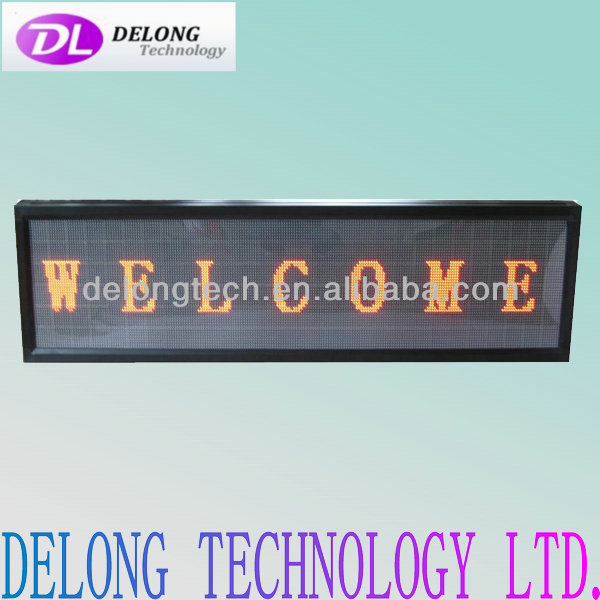 CE RoHS high bright programmable 48X224pixel P7.62mm indoor used led signs sale