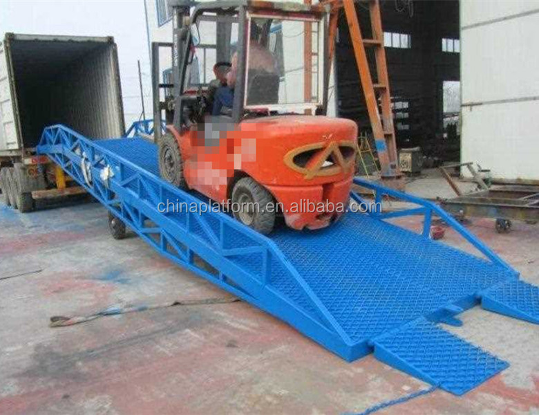 Heavy duty mobile container loading platform container unloading ramps