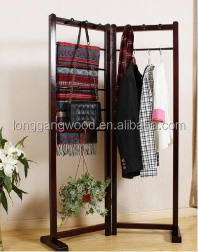 Wooden clothes tree