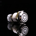 White Light Hot Car Auto Metal LED Power Push Button Switch Latching Type On off 12V