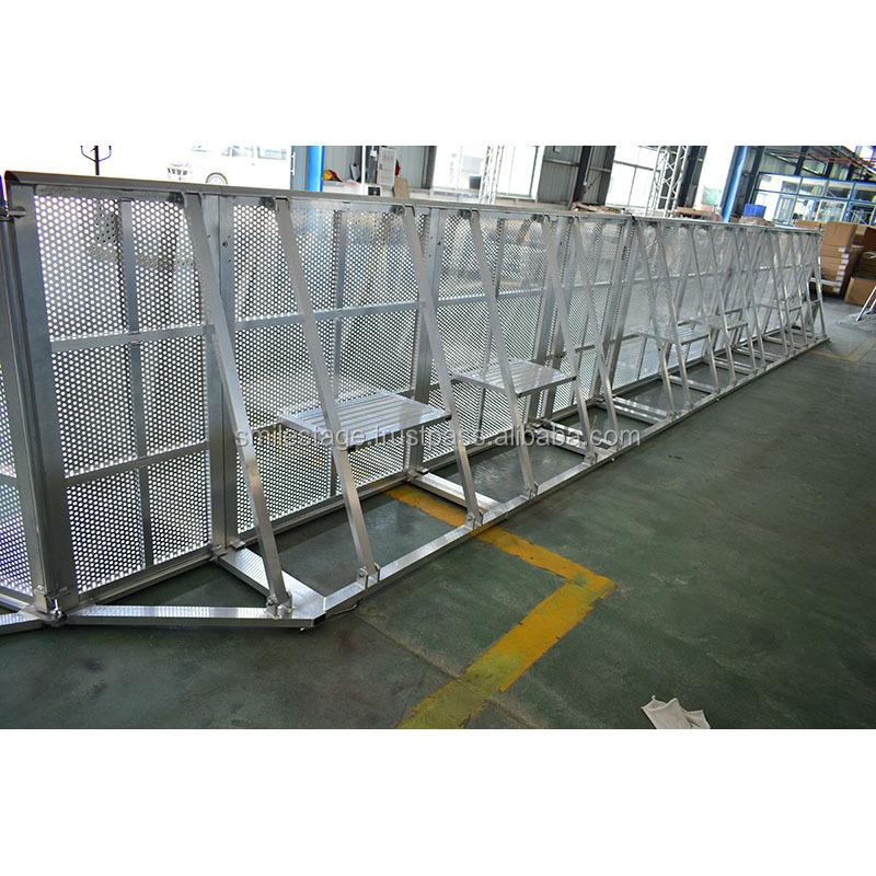 Mojo barikade pengendalian massa panggung konser/digunakan aluminium ramps/luar penghalang
