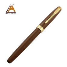 Baoer gift fountain pens with iridium nib business gift fashion color brown matt surface calligraphy pen