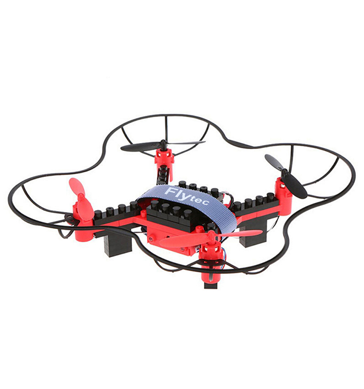 12. T11S_Red_WIFI_FPV_DIY_Building_Blocks_Drone_with_0.3MP_Camera_RC_Drone