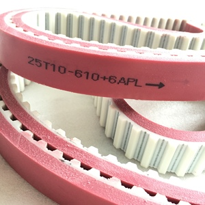 Red APL Coated PU Timing Belts(Code T10)