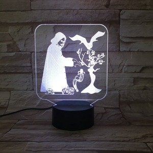 Creative Holiday Gift 3d lamp visual Micro USB Connect LED Table Lamp