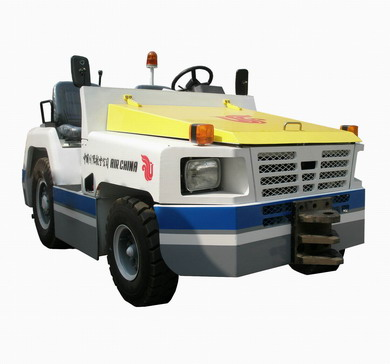 aircraft pushback tug airport aviation plane towing tractor