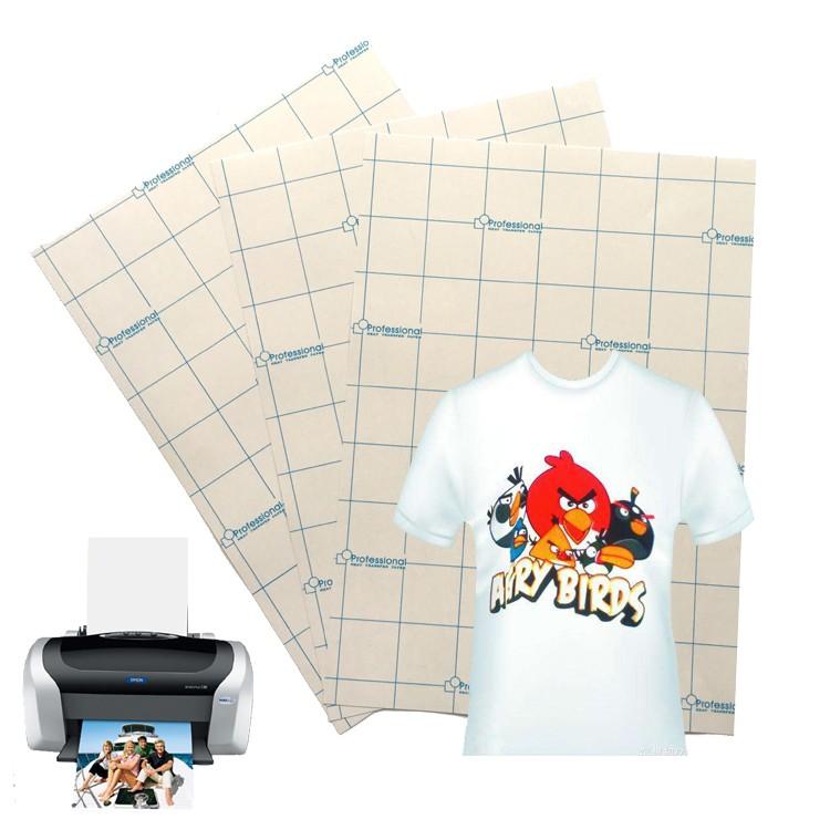 e4f99a47 100 sheets high quality a4 size light 100% cotton t-shirt fabric inkjet <