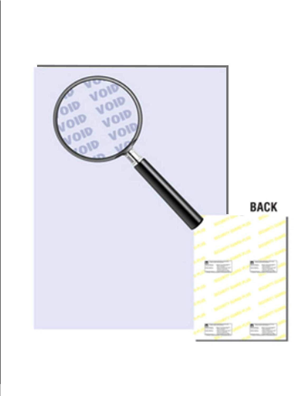 "Laser Print Security Paper (SGP-24-65), Cover Blue 65-lb, 8.5"" x 11"", Four Packs (250 Sets Per Pack) - 1000 Sheets"