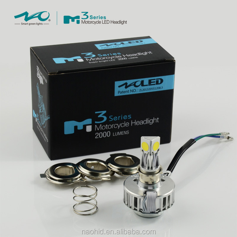NAO patent M3 universal led headlight replace motorcycle xenon light