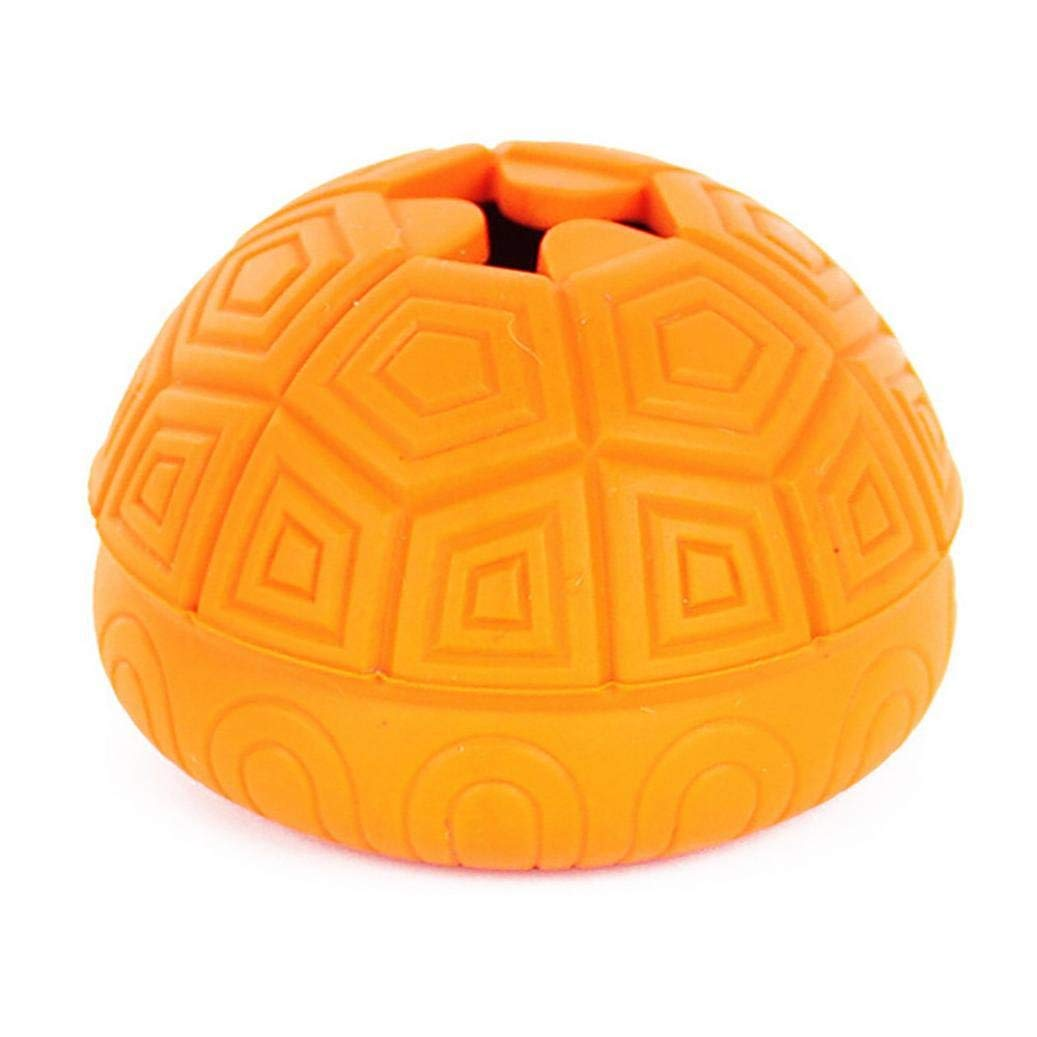 AmaMary88 Leakage Food Ball, Leakage Food Ball Turtle Shell Shape Non-Toxic Rubber Ball Food Dispenser