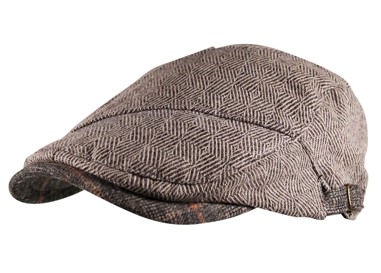 0beaf9409c4 Universal Textiles Mens Tweed Wool Blend Flat Cap