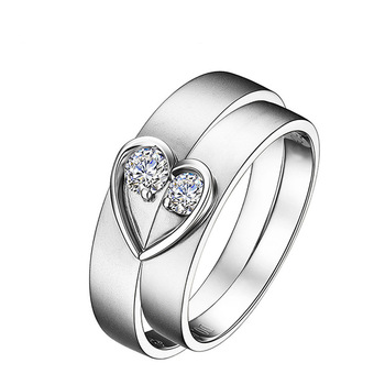 His And Hers Wedding Ring Sets.Heart Style Genuine18k White Gold His And Hers Couple Wedding Ring Set For Men Women Engagement Jewelry Si H 0 1 Carat Per Pair Buy Gold Ring Design