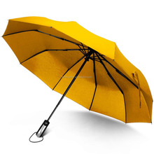 Travel Umbrella Unbreakable Lightweight 10 Ribs Automatic Compact Windproof Canopy Umbrellas for Men/Women One Handed Operation