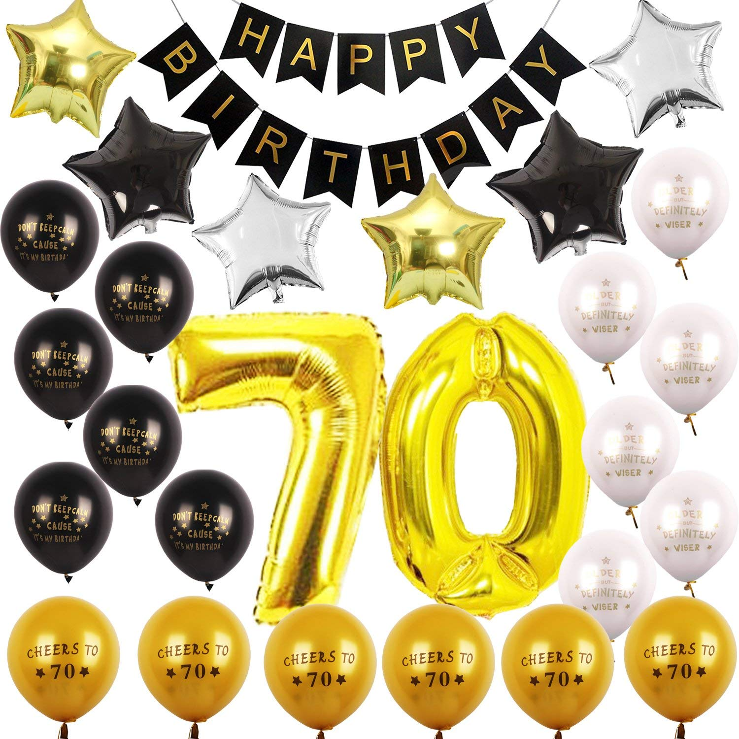 Buy 70th BIRTHDAY PARTY DECORATIONS KIT