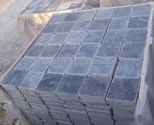 China bulk wholesale tumbled blue limestones factory direct on sale