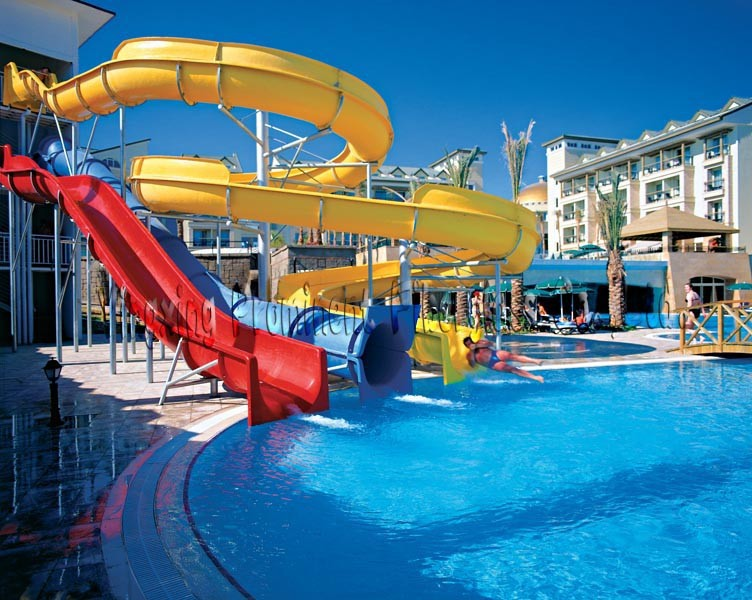 Spiral Water Swimming Pool Slides for Holiday Resort