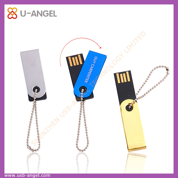 Key chain flash drive classic rotating