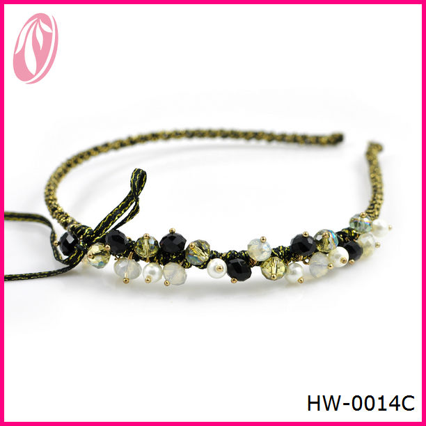 fashion lady elastic metal headbands,jewelry hair hoop