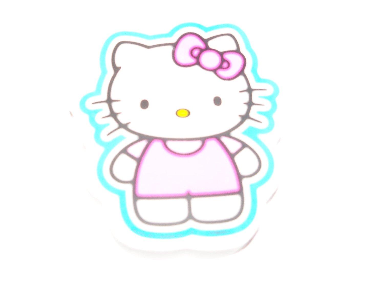 "Hello Kitty Jumbo Shaped Eraser ~ Kitty with Blue Outline (1 Eraser; 3"" x 2.25"")"