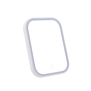 PRITECH High Iumination Convenient Square Smart Touch On/Off Switch LED Make Up Mirror