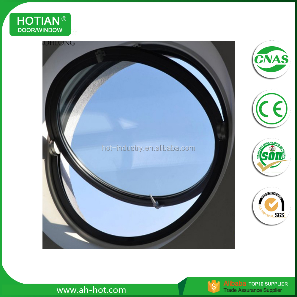 Modern aluminum round windows that open double glazed windows