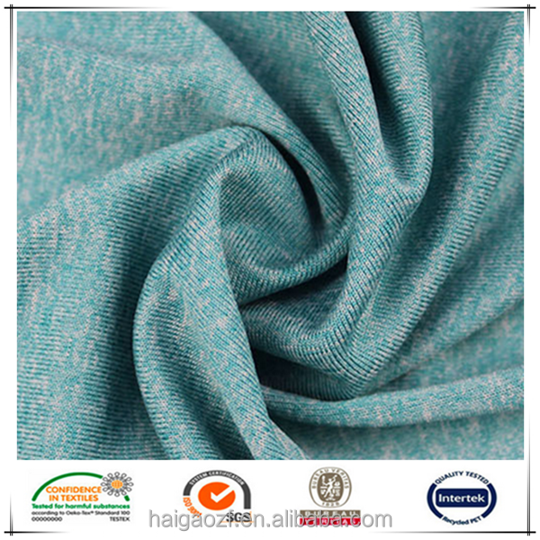Dry Fit Sport Fabric Polyester Lycra Knitting Fabric