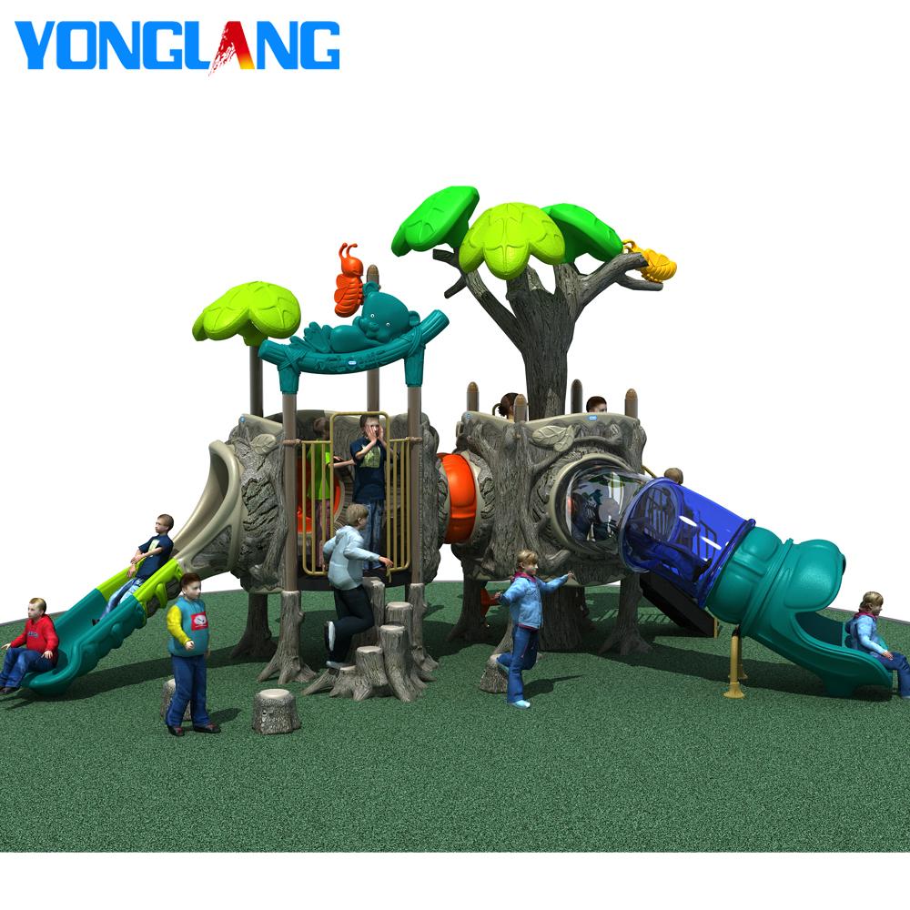 YL-T035 preço barato equipamento de playground infantil plástico exterior com slide para venda