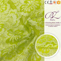 Newest african swiss voile polyester green lace fabric buy online