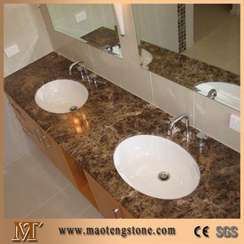 Natural Stone Tops Emperador Dark Marble Bathroom Vanity