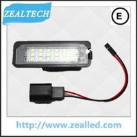 Top Quality Error Free LED License Plate Light for VW GOLF4/5 with E-Mark certificate