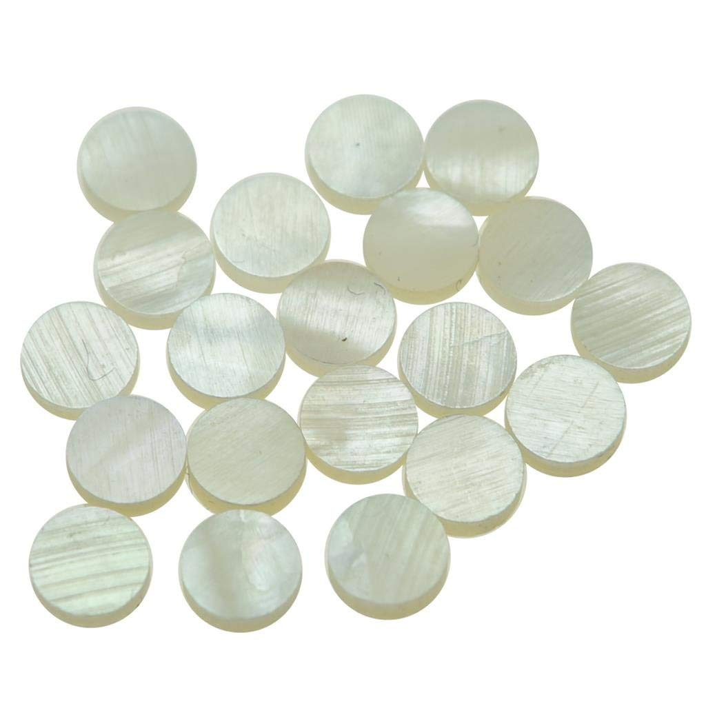68bd323e3c24 Get Quotations · KAISH 20pcs 6x2mm Guitar Natural Mother of Pearl Inlay  Fingerboard Fret Dots