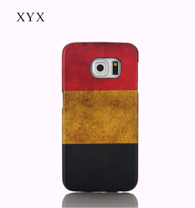Belgium country flag printing leather case mobile phone flip back cover for iphone 6 6s