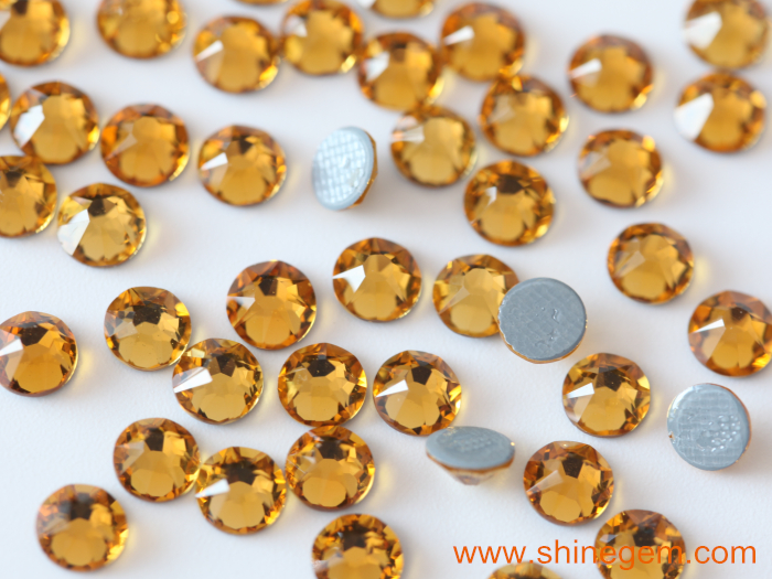 Blinginbox wholesale 8+8 cut facets 2088 Fashion strong glue flat back hot fix rhinestone for Fashion Clothing