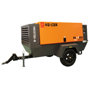 Hongwuhuan 75kw Direct Drive 13bar Aquaculture Four Wheels Screw Tire Automotive Conditioning Electric Air Compressor Portable