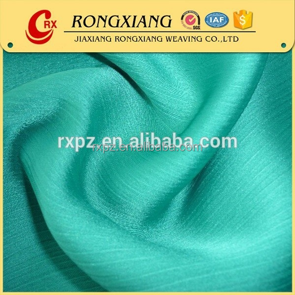 shaoxing 100% poly 30D*50D crepe satin fabric for bridal dress