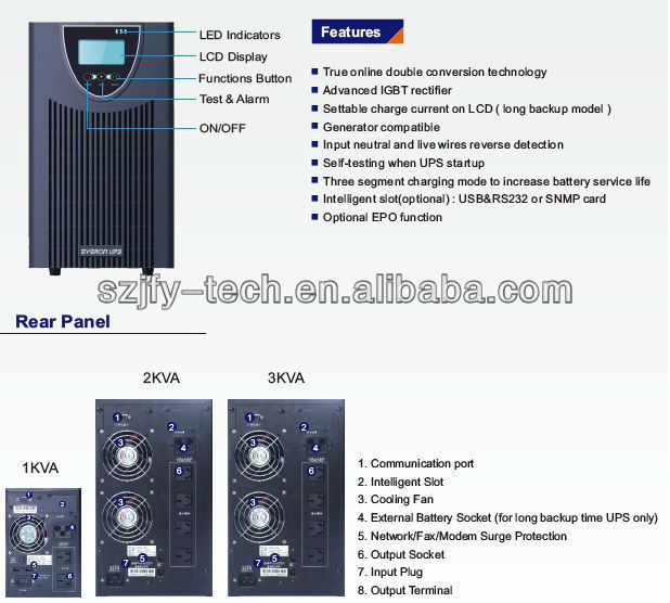 Online Low Frequency UPS 1-3KVA