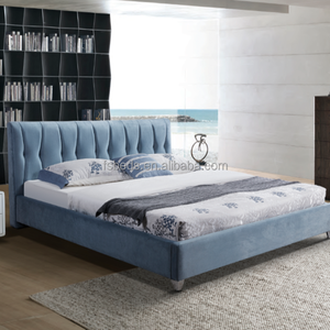 2018 new double bed for bedroom furniture from china bed factory