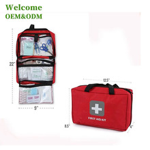 KID hospital grade medical for emergency red fabric first aid bag