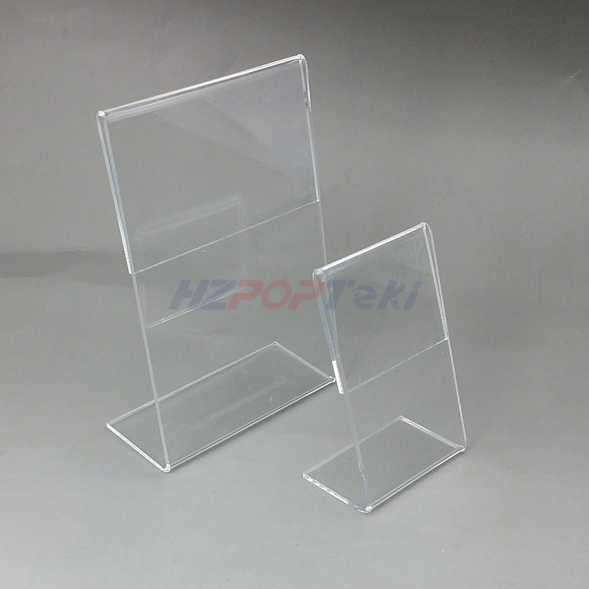 Großhandel Acryl T1 3mm Vertikal Klar L Form Plastiktischschild Preisschild Label Display Papier Promotion Kartenhalter Ständer Von Herbertw 33 23