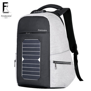 Fenruien OEM service sample offer solar panel charger backpack, solar backpack with speakers