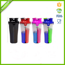 china Dual Threat Shaker Bottle Sports plastic bottle for powder drinking
