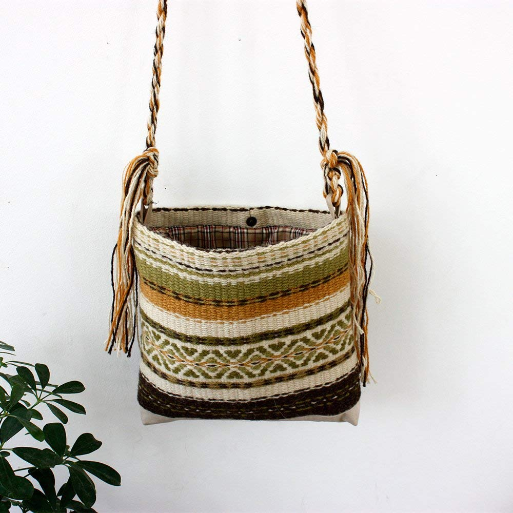 Handmde gypsy bag, handwoven wool bag, handmade unique purse, unique handmade purse, boho purse, boho bag