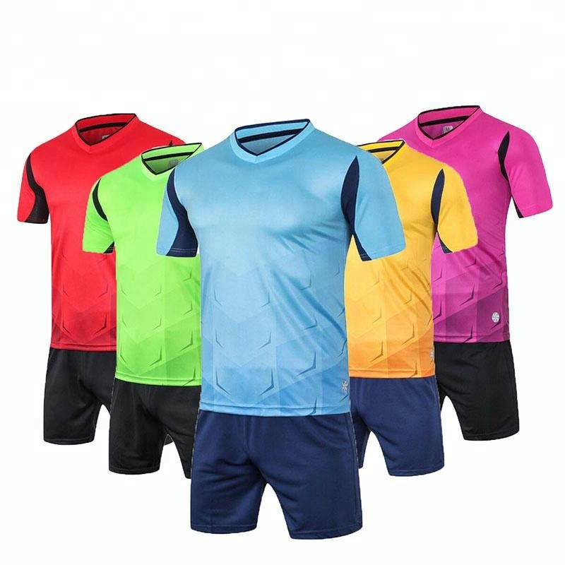 Wholesale sports jersey new model cheap plain custom soccer uniform for adult and kids