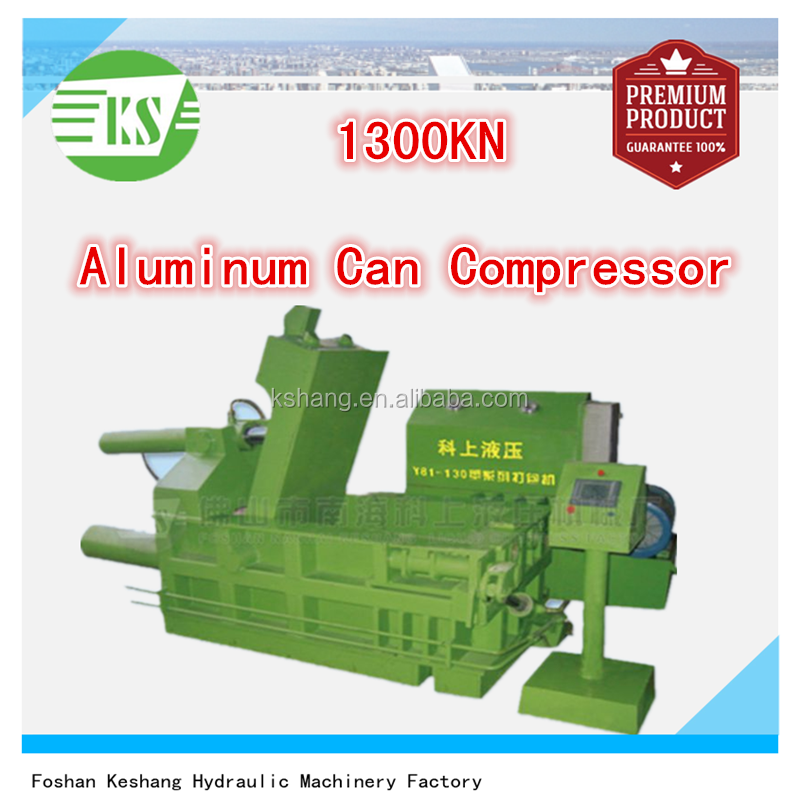 130T Hydraulic Waste Metal Aluminum Can Baling Press Machine