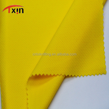 performance fabric wholesale yellow polyester wicking dry fit fabric for athletic clothes