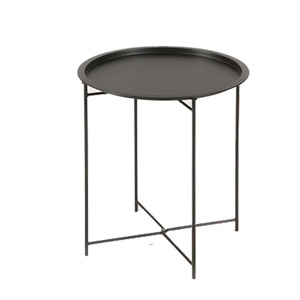 Modern Round Metal Coffee Side Table
