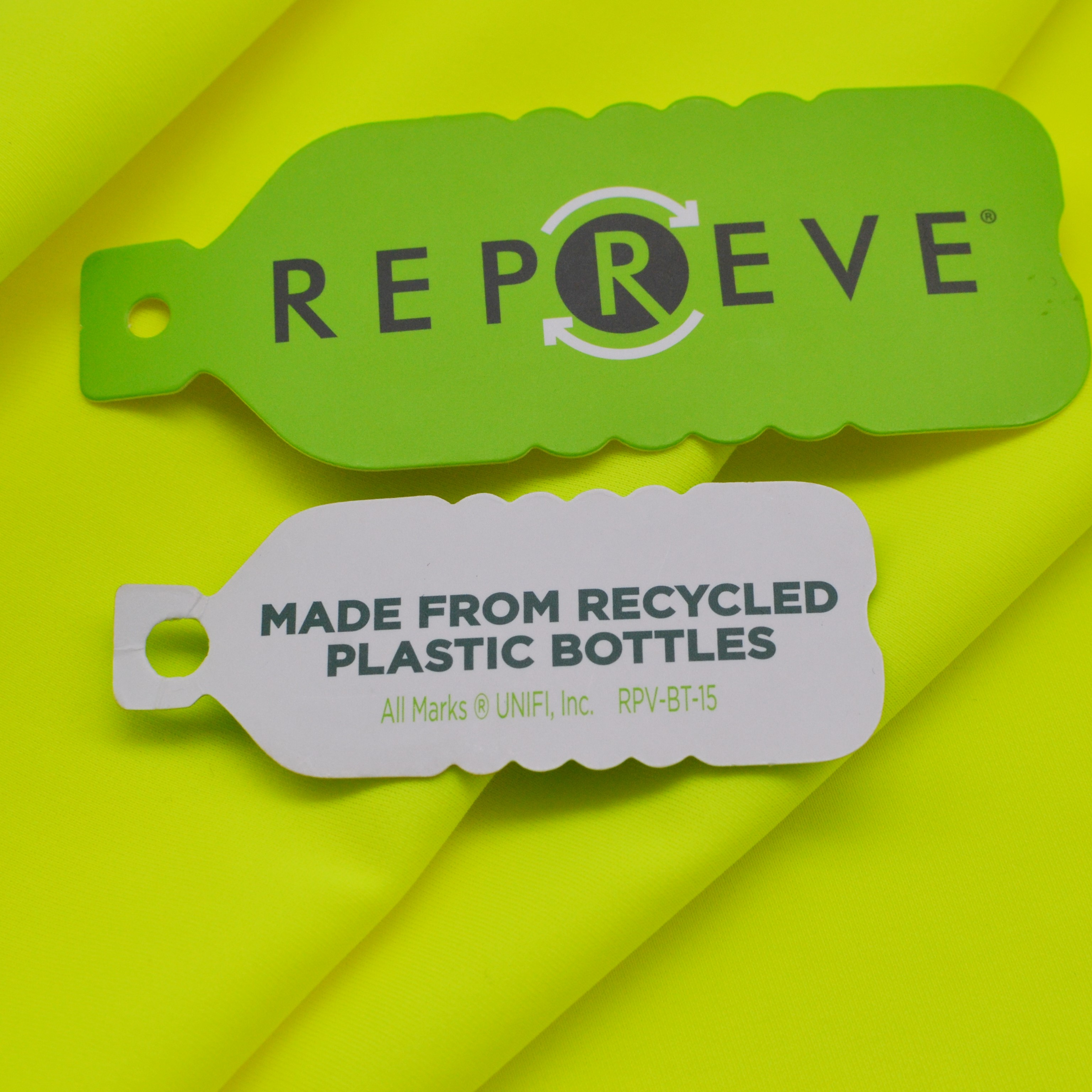repreve hangtag recycled plastic clothing manufacturers