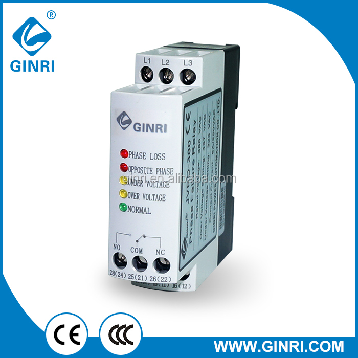 Ginri Three phase voltage monitoring relay/JVRD-380 Voltage controller Voltage sensing relay