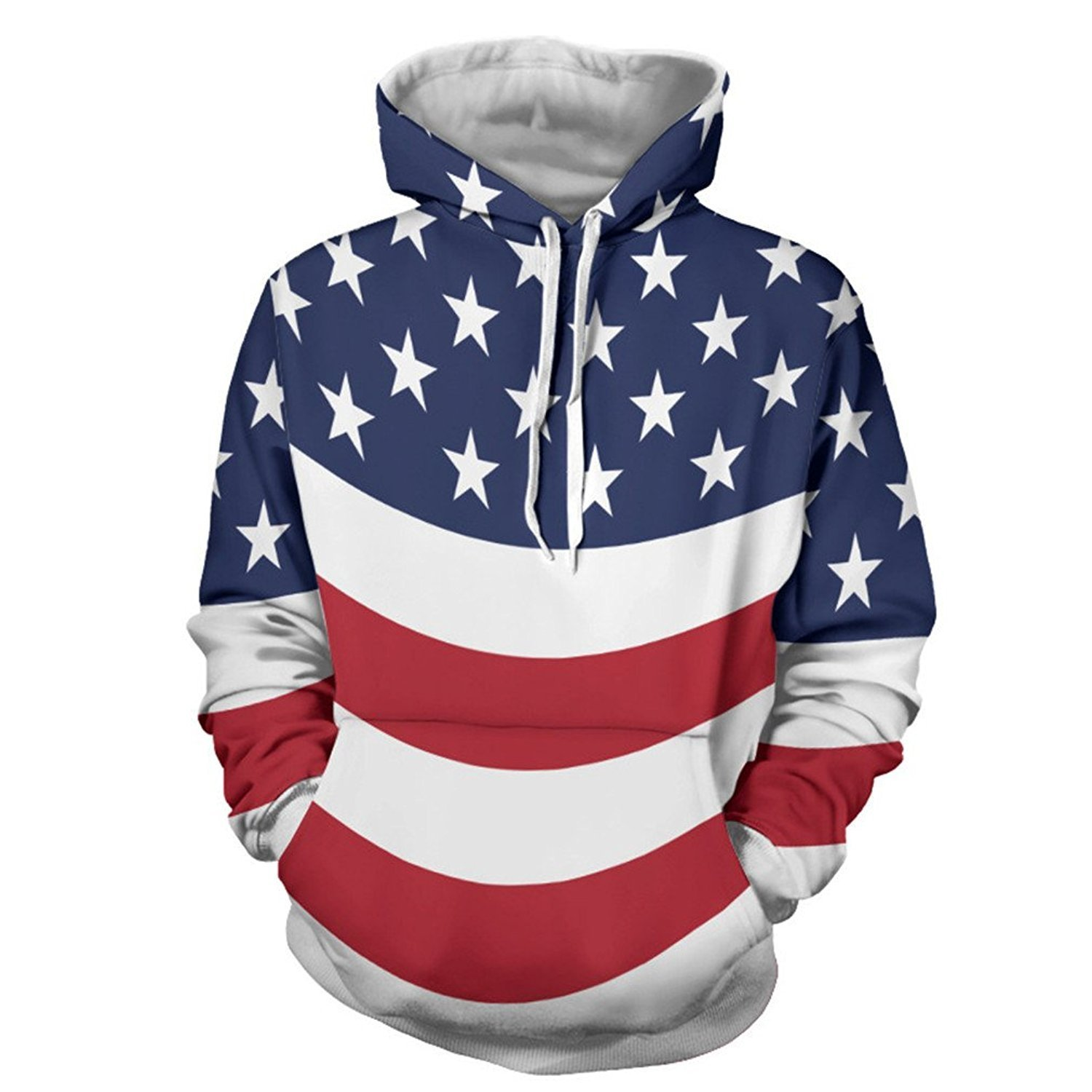 3d9b68919215 Get Quotations · buybuybuysell Classic Autumn Hoody Hoodies Men Women 3D  Sweatshirts With Cap Print Couple Flag Casual