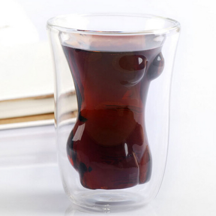 Glass Drinkware Type and Stocked Eco-Friendly Feature Glass Woman Shape